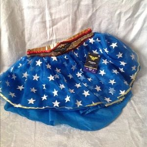 NWT childs M Wonder Woman tutu skirt
